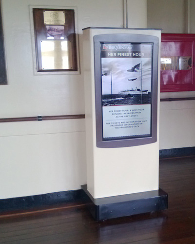 queen mary digital signage