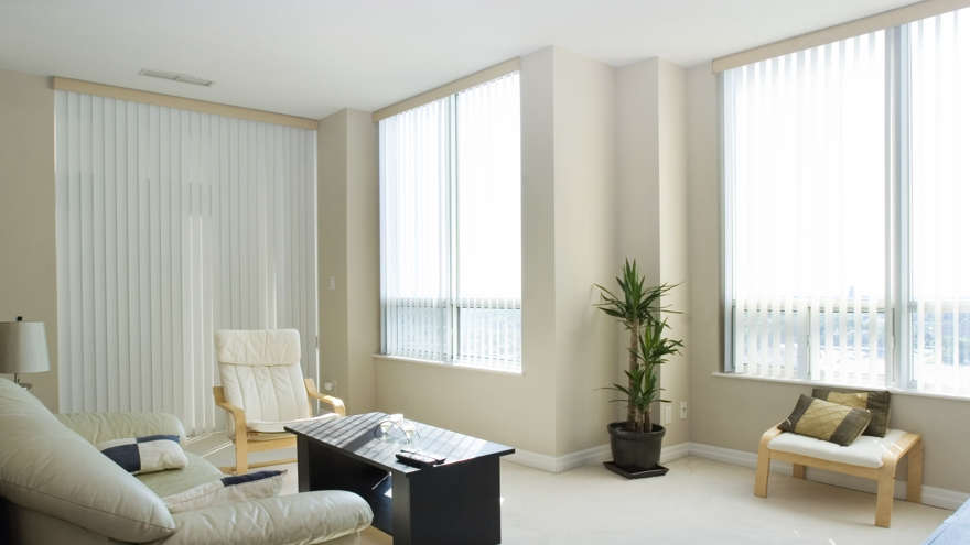 istock vertical blinds house living room