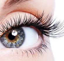 eyelash extensions close up