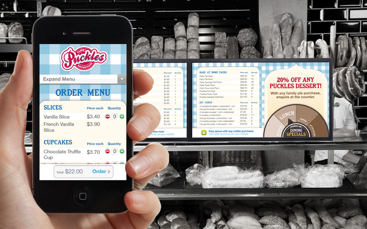 resturant mock screen menu mobile order