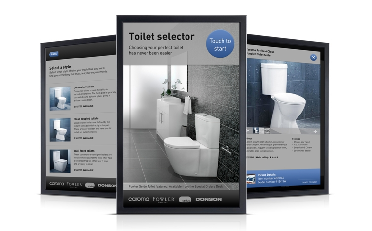 Astonishing Gwa Toilet Selector Web Based Kiosk In Store Digital Gmtry Best Dining Table And Chair Ideas Images Gmtryco