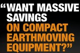 compact equipment sale flyer