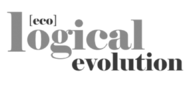 eco logical evolution logo big bw